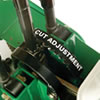 Billy Goat SC121H one-step cut adjustment
